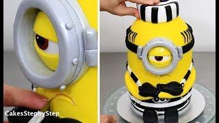 How To Make a MINION CAKE by Cakes StepbyStep