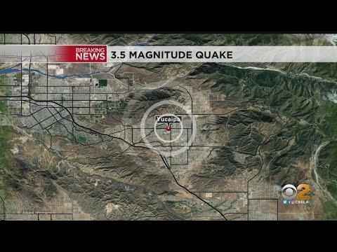 Magnitude 3.5 Earthquake Strikes Near Yucaipa