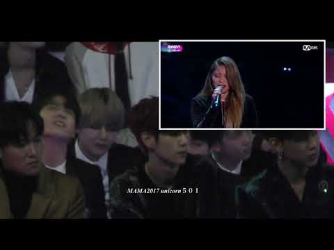 171201 BTS Jungkook reaction to Ailee @mama2017
