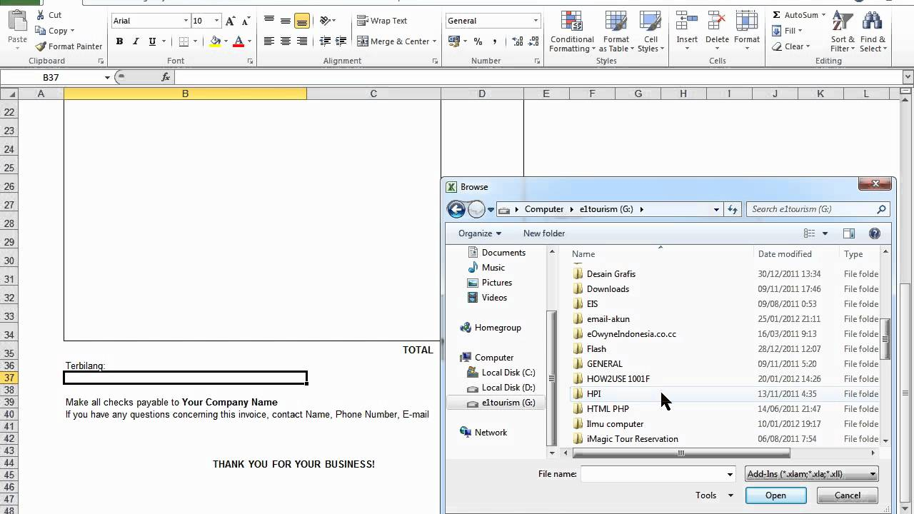 cara buat invoice excel 2007 2010 mp4 youtube