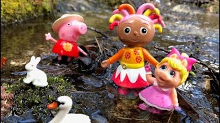 SWAN River Walk with Upsy Daisy, Peppa Pig and Miss Piggy Toys!