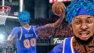 BEASTIN WITH BLUE HAIR IN NBA FINALS! NBA 2k16 My Career Gameplay Ep. 89