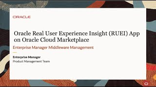 Video of RUEI on OCI Marketplace