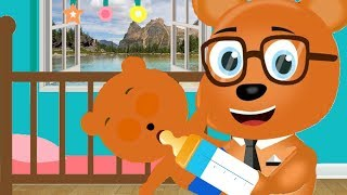 Mega Gummy bear Baby Sitter Cartoon Animation Nursery Rhymes