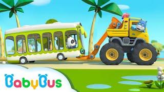 Roda Di Bis Berputar-putar   Lagu Kendaraan   Lagu Anak-anak   BabyBus Bahasa Indonesia