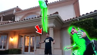 DUMPING 100 POUNDS OF SLIME ON MY DAD PRANK! (HE WAS PISSED)