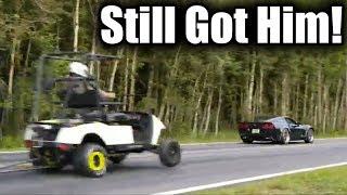 Golf Cart Gives Built Corvette a Massive Head Start in Drag Race