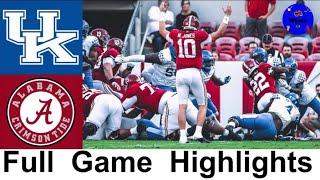 Kentucky vs #1 Alabama Highlights | College Football Week 12 | 2020 College Football Highlights