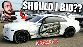 Should I Bid On Post Malone's WRECKED Rolls Royce at Salvage Auction?!