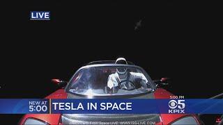 Spectacular Space X Launch Sends Tesla Roadster Into Orbit