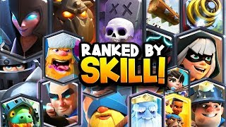 Ranking ALL 17 Legendary Cards from LOWEST to HIGHEST SKILL Cap!