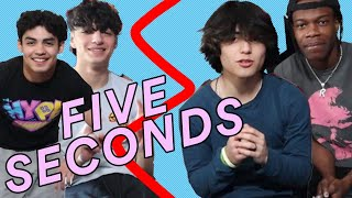 5 Second Challenge w The Boys