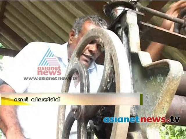 Rubber goes down in market; farmers  in big crisis   റബ്ബര് വിലയിടിവ്