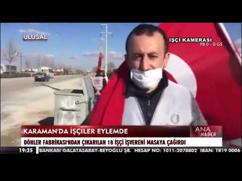 KARAMAN'DA İŞÇİLER EYLEMDE