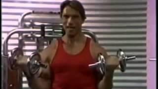 Arnold Schwarzenegger ARM TRAINING! Hilarious 1980s Workout Video