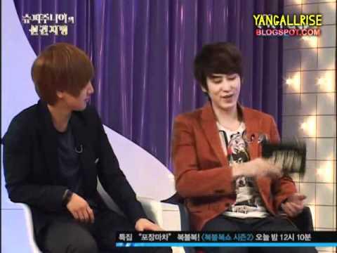 110223 Kyuhyun & Leeteuk's Over Reaction