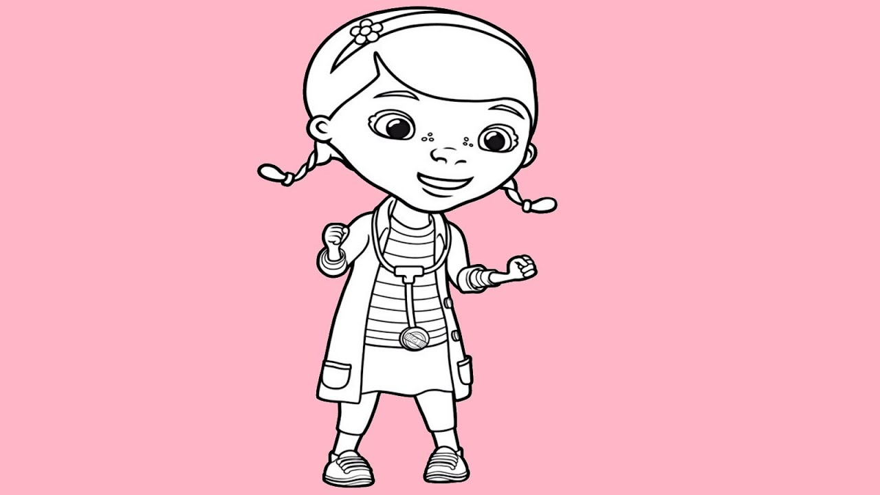 It's just a picture of Canny Doc Mcstuffins Drawing