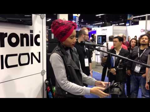 Yuna at the TC Electronic booth (NAMM 2013) : 1 of 3