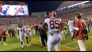 Alabama players exit as Auburn fans rush field after Iron Bowl