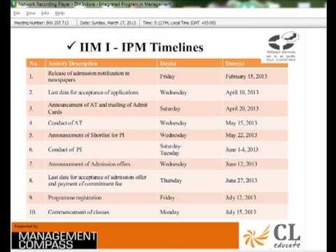 IIM Indore - Integrated Program in Management