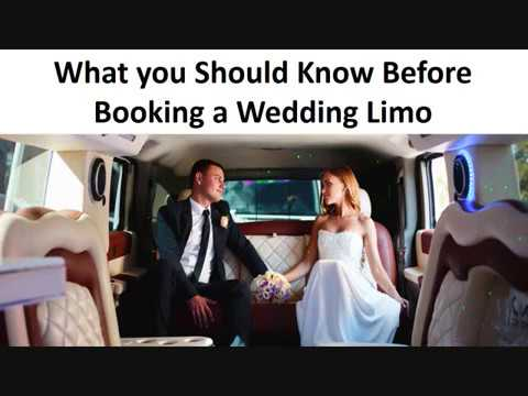 What you Should Know Before Booking a Wedding Limo