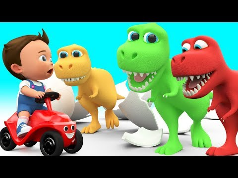 Baby Fun Learning Colors for Children with Cartoon Dinosaur T Rex 3D Kids Toddler Educational Video