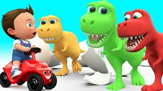 Baby Fun Learning Colors for Children with Cartoon Dinosaur T Rex 3D Kids Toddler Educational Video - YouTube