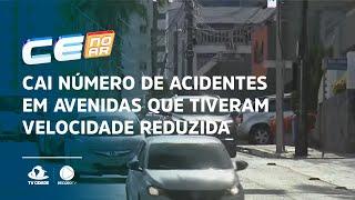 Cai número de acidentes em avenidas que tiveram velocidade reduzida