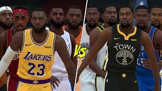 5 Different LeBron James vs 5 Different Kevin Durants! | NBA 2K19