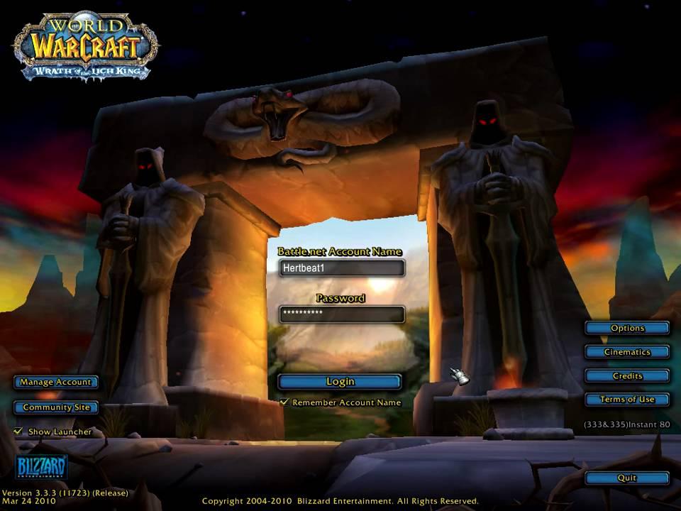 Vanilla Login Screen World Of Warcraft Forums