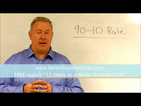 Follow the 90-10 Rule to Better Your High School Booster Club