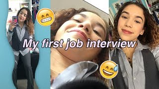 Vlog: My FIRST JOB INTERVIEW