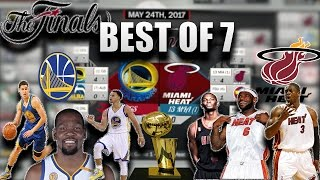 Warriors SUPERTEAM vs 2012-2013 Miami HEAT in a BEST OF 7 NBA FINALS!!! Who would win?