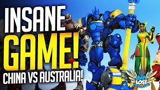 Overwatch - Australia GO HUGE!! Insane Game! (China vs Australia)