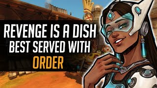 Spawn camping  with Symmetra and Getting Revenge Against a Toxic Thrower! Overwatch