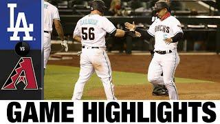 Christian Walker's double leads D-backs   Dodgers-D-backs Game Highlights 7/31/20