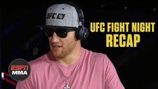 Justin Gaethje on Donald Cerrone win, Conor McGregor fight   UFC Fight Night Post Show   ESPN MMA