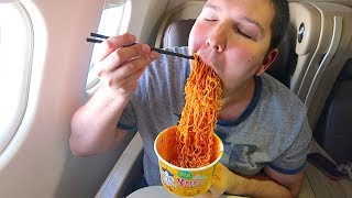 Flying First Class Singapore Airlines • What I Ate • MUKBANG