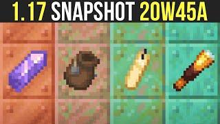 Minecraft 1.17 Snapshot 20w45a Amethyst Geodes, Bundles, Tinted Glass & Shulker Farming?
