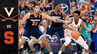 Virginia vs. Syracuse Basketball Highlights (2017-18)