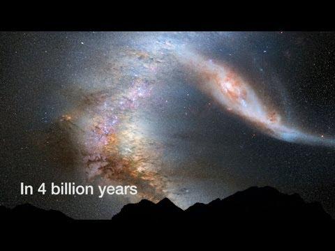 Milky Way Versus Andromeda As Seen from Earth