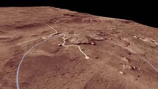 Mars 2020 Landing Site: Jezero Crater Flyover