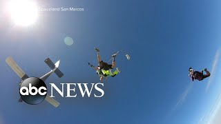 103-year-old man makes world record qualifying tandem skyd..