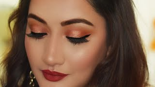 (Hindi ) Indian Party Makeup Tutorial |Valentines Day Makeup Look 2018