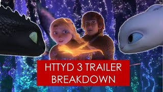 How to Train Your Dragon 3: Trailer Breakdown [ Light Fury l Hiccstrid l Hidden World ]