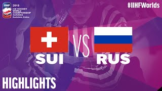 Switzerland vs. Russia - Game Highlights - #IIHFWorlds 2019