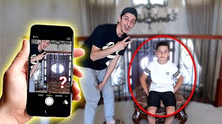 WE MADE HIM INVISIBLE!! **crazy magic trick**