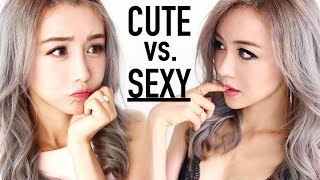 Cute Vs. Sexy Beginners Makeup Tutorial ♥ Valentines Day ♥ Before And After ♥ Wengie