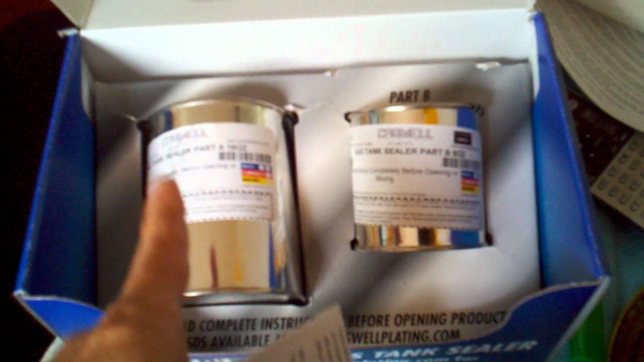 Plastic Fuel Tank >> Caswell Epoxy Gastank Sealing kit part 1 - YouTube