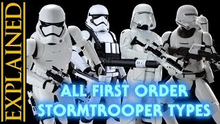 Every First Order Stormtrooper Type in Star Wars